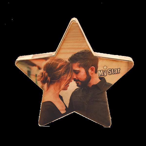 הדפסת תמונה על עץ – MY STAR