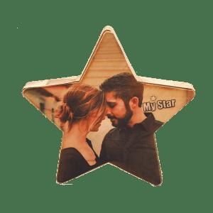הדפסת תמונה על בלוק עץ כוכב