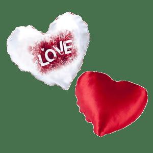 הדפסת תמונה על כרית לב ענקית אדום פרווה