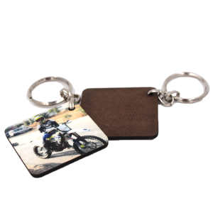 מחזיק מפתחות עץ חד צדדי מרובע